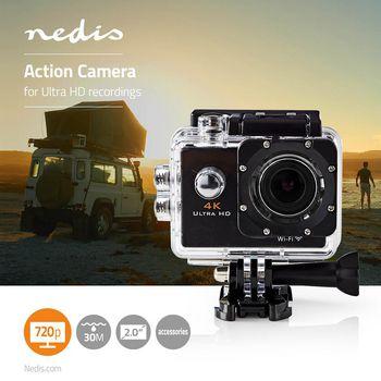 ACAM40BK Action cam | 4k@30fps | 16 mpixel | waterbestendig tot: 30.0 m | 90 min | wi-fi | app beschikbaar vo Product foto