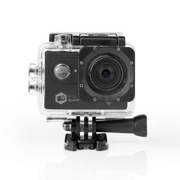 ACAM61BK Action cam | 4k@60fps | 20 mpixel | waterbestendig tot: 30.0 m | 90 min | wi-fi | app beschikbaar vo
