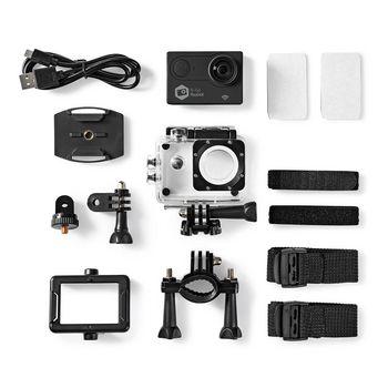 ACAM61BK Action cam | 4k@60fps | 20 mpixel | waterbestendig tot: 30.0 m | 90 min | wi-fi | app beschikbaar vo Inhoud verpakking foto