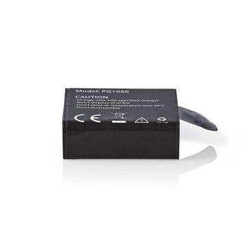 ACBT10BK Reservebatterij actiecamera | 1050 mah | max. 70 minuten | 3,7 v Product foto