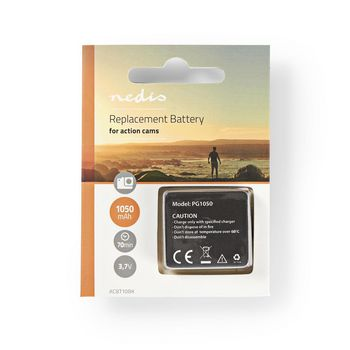 ACBT10BK Reservebatterij actiecamera | 1050 mah | max. 70 minuten | 3,7 v Verpakking foto