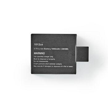 ACBT20BK Vervangende batterij voor actioncam | 1000 mah | max. 90 minuten | 3,7 v