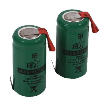 ACCU-P25AANM Oplaadbare nimh batterij pack 1.2 v 600 mah 1-pack