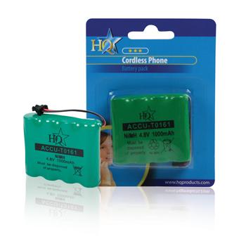 ACCU-T0161 Oplaadbare nimh batterij pack 4.8 v 1000 mah 1-polybag Verpakking foto