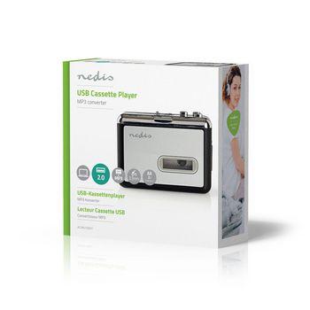 ACGRU100GY Cassettebandjes digitaliseren | draagbaar | output: 1x 3,5 mm / 1x mini usb | accessoires: usb-kabel Verpakking foto