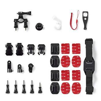 ACMK00 Bevestigingsset actiecamera | 12 mounts inbegrepen | reisetui Inhoud verpakking foto