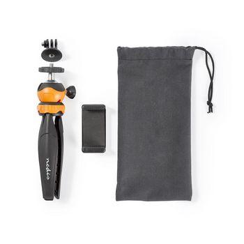ACMT10BK Driepoot | max. 1,5 kg | 16 cm | zwart/oranje Inhoud verpakking foto