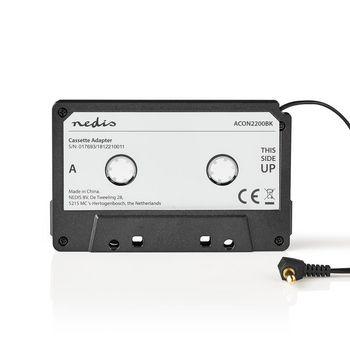 ACON2200BK Cassette-adapter | 3,5 mm mannelijk | zwart