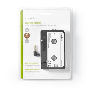 ACON2200BK Cassette-adapter | 3,5 mm mannelijk | zwart  foto