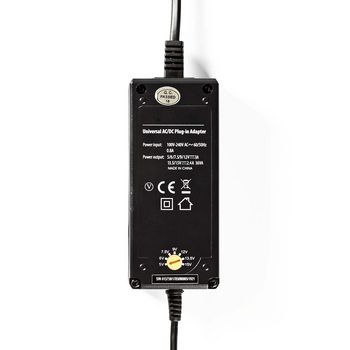 ACPA004 Universele ac-voedingsadapter | 5/6/7,5/9/12/13,5/15 v dc | 2,4 a - 3,0 a Product foto