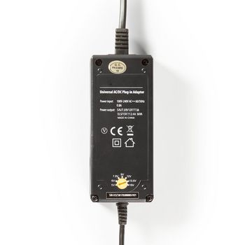 ACPA004 Universele ac-stroomadapter | type c (cee 7/16 | 36 w | 5 / 6 / 7.5 / 9 / 12 / 13.5 / 15 vdc | uitga Product foto