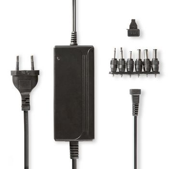 ACPA004 Universele ac-stroomadapter | type c (cee 7/16 | 36 w | 5 / 6 / 7.5 / 9 / 12 / 13.5 / 15 vdc | uitga
