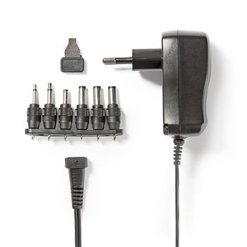 ACPA006 Universele ac-stroomadapter | type c (cee 7/16 | 7.2 w | 3 / 4.5 / 5 / 6 / 7.5 / 9 / 12 vdc | uitgan