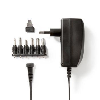 ACPA007 Universele ac-stroomadapter | type c (cee 7/16 | 27 w | 3 / 4.5 / 6 / 7.5 / 9 / 12 vdc | uitgangsplu