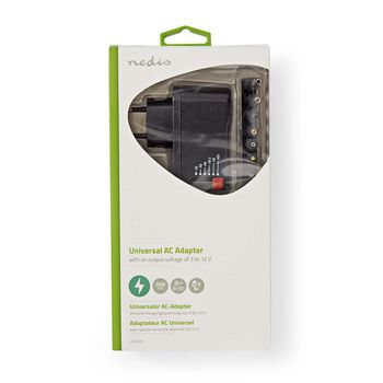 ACPA009 Universele ac-voedingsadapter | 3/4,5/6/7,5/9/12 v dc | 0,7 a - 1,5 a Verpakking foto