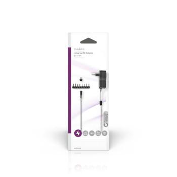 ACPA109 Universele ac-stroomadapter | type c (cee 7/16 | 7.5 w | 3 / 5 / 6 / 7.5 / 9 / 12 vdc | uitgangsplug  foto