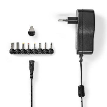 ACPA109 Universele ac-stroomadapter | type c (cee 7/16 | 7.5 w | 3 / 5 / 6 / 7.5 / 9 / 12 vdc | uitgangsplug