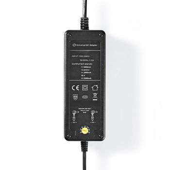 ACPA116 Universele ac-stroomadapter | type c (cee 7/16 | 60 w | 6 / 7.5 / 9 / 12 / 13.5 / 15 / 16 vdc | uitg Product foto