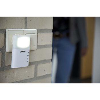 ADB-19 Plug-in draadloze deurbel set 220v 36 melodieën / led-indicator wit In gebruik foto