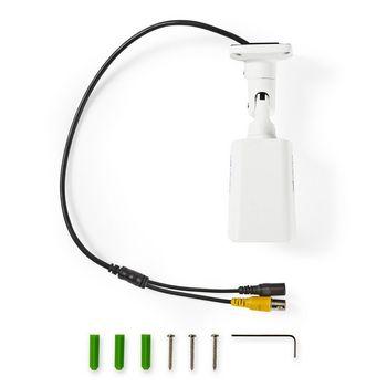 AHDCBW10WT Cctv-beveiligingscamera | maximale resolutie: hd 720p | nachtzicht: 20 m | netvoeding | beeld chip:  Inhoud verpakking foto