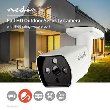 AHDCBW15WT Cctv-beveiligingscamera | maximale resolutie: full hd 1080p | nachtzicht: 25 m | netvoeding | beeld  Product foto