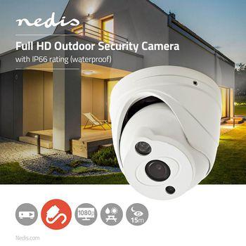 AHDCDW15WT Cctv-beveiligingscamera | maximale resolutie: full hd 1080p | nachtzicht: 15 m | netvoeding | beeld  Product foto