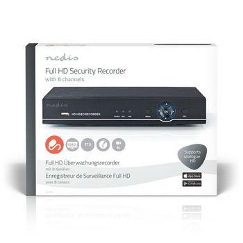 AHDR208CBK Cctv-beveiligingsrecorder | 8-kanaals | full hd | inclusief 1 tb hdd Verpakking foto