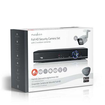 AHDS204CWT2 Cctv-beveiligingsrecorder, set | 2x camera\'s inbegrepen | full hd | inclusief 1 tb hdd Verpakking foto