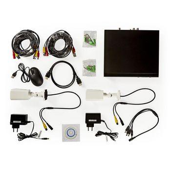 AHDS204CWT2 Cctv-beveiligingsrecorder, set | 2x camera\'s inbegrepen | full hd | inclusief 1 tb hdd Inhoud verpakking foto