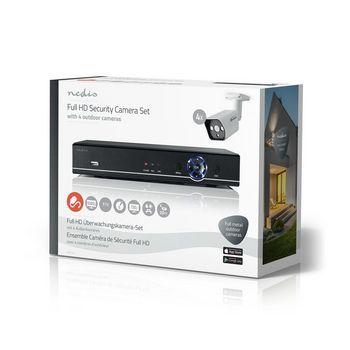 AHDS204CWT4 Cctv-beveiligingsrecorder, set | 4x camera\'s inbegrepen | full hd | inclusief 1 tb hdd Verpakking foto