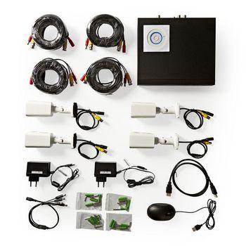 AHDS204CWT4 Cctv-beveiligingsrecorder, set | 4x camera\'s inbegrepen | full hd | inclusief 1 tb hdd Inhoud verpakking foto