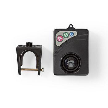 ALRMB10BK Fietsalarm   instelbare gevoeligheid   eenvoudig instelbaar   zwart Inhoud verpakking foto
