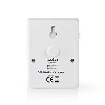 ALRMGB10WT Glasbreukalarm | ingebouwde sirene | instelbare gevoeligheid Product foto