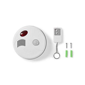ALRMMC10WT Bewegingsalarm voor beveiliging | plafondbeugel | alarm/zoemer | op afstand in-/uitschakelen Inhoud verpakking foto