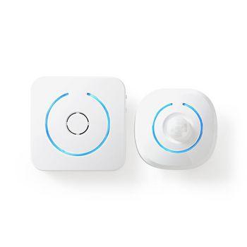 ALRMMW20WT Zoemer bewegingsdetector home security | 8 ringtones | seint met licht en geluid