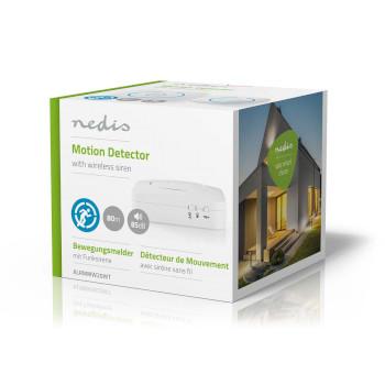ALRMMW20WT Zoemer bewegingsdetector home security | 8 ringtones | seint met licht en geluid Verpakking foto