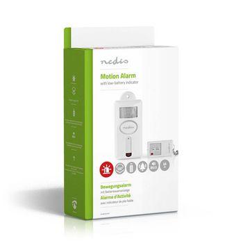 ALRMMW30WT Bewegingsalarm voor beveiliging | alarm/zoemer op afstand | op afstand in-/uitschakelen Verpakking foto
