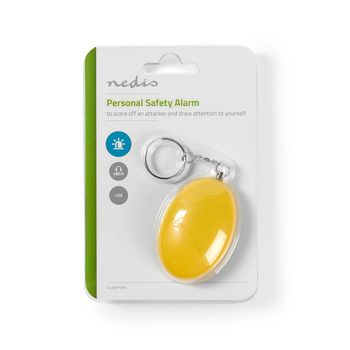 ALRMP10YE Persoonlijk veiligheidsalarm | lichtgewicht | ≥ 85 db-alarm | geel Verpakking foto