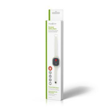 ALRMPW20AT Persoonlijk veiligheidsalarm | waterdicht | ontwerp met polsbandje | ≥ 85db-alarm | knipperend Verpakking foto
