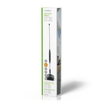 ANIR0502BK Hdtv-antenne voor binnen | 0 - 5 km | versterking 5 - 7db | vhf / uhf | zwart Verpakking foto