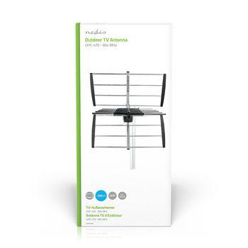 ANOR5070ME Tv-antenne voor buiten | max. 11 db versterking | uhf: 470 - 694 mhz | 7 componenten  foto