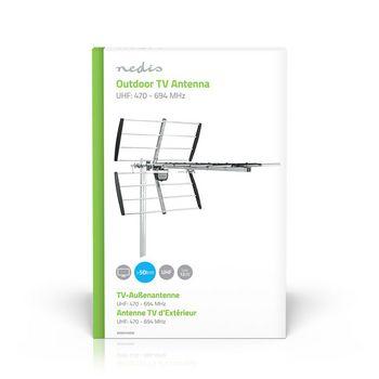 ANOR5100ME Tv-antenne voor buiten | max. 12 db versterking | uhf: 470 - 694 mhz | 10 componenten  foto