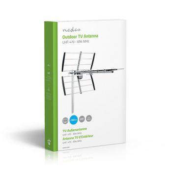 ANOR5100ME Tv-antenne voor buiten | max. 12 db versterking | uhf: 470 - 694 mhz | 10 componenten Verpakking foto
