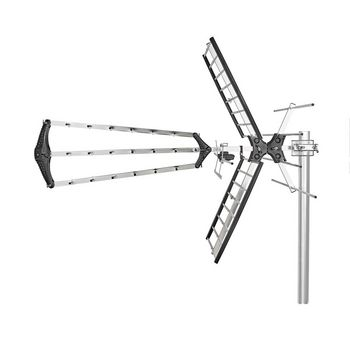 ANORUV10L8ME Outdoor tv antenna | max. 14 db gain | vhf: 170 - 230 mhz | uhf: 470 - 790 mhz