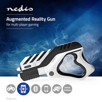ARGG100BW Augmented reality-pistool | multiplayer | zwart/wit Product foto