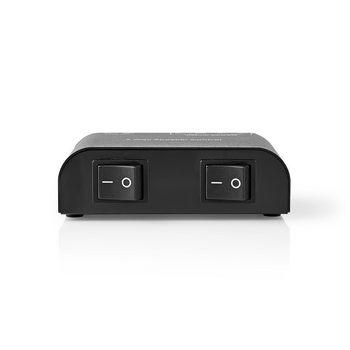 ASWI2602BK Speaker control box | 2-poorts | klemmen | luidspreker impedantie: 4-16 ohm | maximale belasting per