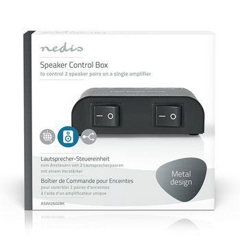 ASWI2602BK Speaker control box | 2-poorts | klemmen | luidspreker impedantie: 4-16 ohm | maximale belasting per  foto