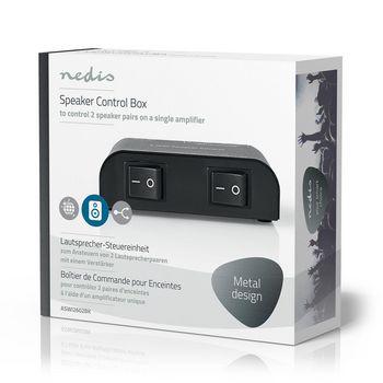 ASWI2602BK Speaker control box | 2-poorts | klemmen | luidspreker impedantie: 4-16 ohm | maximale belasting per Verpakking foto