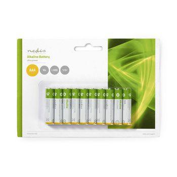 BAAKLR0310BL Alkaline-batterij aaa | 1.50 v | aaa / mn2400 / mv2400 / mx2400 / 24a / 1200 | 10 pcs | blister