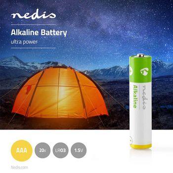 BAAKLR0320BX Alkaline-batterij aaa | 1.50 v | aaa / mn2400 / mv2400 / mx2400 / 24a / 1200 | 20 pcs | doos Product foto